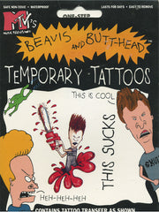 MTV's Beavis and Butt-Head Temporary Tattoos