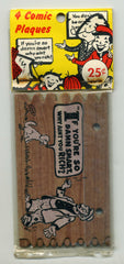 Set Of Four Vintage Comic Plaques