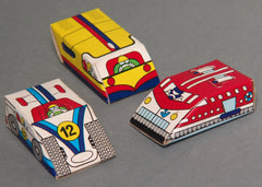 Vintage Japan Glico Gum Marble Powered Racers