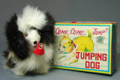 Vintage TTT Japan Come Come Jump Jumping Dog Wind Up