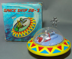 Vintage Battery Operated  Space Flying Saucer Ship  DB - 3