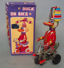 Vintage China Duck on Trike Wind Up