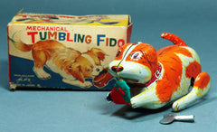Vintage Alps Japan Tin Wind Up Fido the Dog