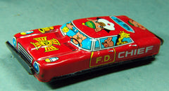 1960's Japan Tin Comic Animal Fire Chief Car