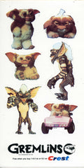 1984 GREMLINS GIZMO STICKERS CREST ADVERTISING