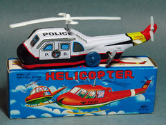 Vintage Wind Up Police Helicopter