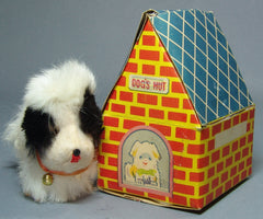 Vintage Jumping Dog Wind Up In Dog House