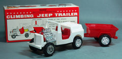 Vintage Bandai Japan Battery Operated Jeep and Trailer