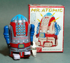 Reproduction Mini Mr. Atomic Robot Wind Up