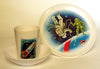 1960's Melamine Space Travel Cup Saucer Plate Set