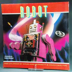 Vintage Robot 1985 Calandar With Intro By Isaac Asimov
