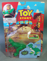 1995 Toy Story Rex Glow In The Dark Action Figure