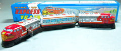 Vintage Japan Wind Up Tin Sante Fe Train