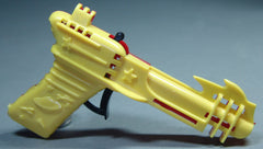 1950's Palmer Plastics Clicker Ray Gun Red/Yellow