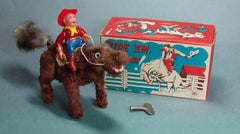Vintage Japan Wind Up Ride Em Cowboy