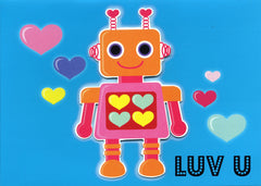Robot Love Greeting Card