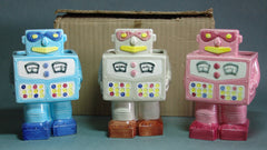 Vintage Replo Robot Planter Set With Box