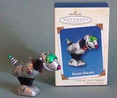 Tin Robot Parade Space Dog Christmas Ornament