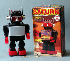 Vintage China Battery Operated Saturn Robot