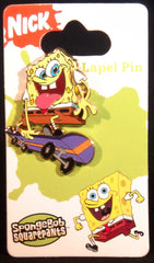 Sponge Box and Squidward Metal Lapel Pins