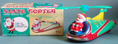 Vintage Japan Battery Operated Santa Copter