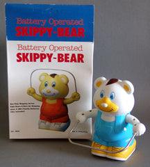 1970's Battery Operated Skipping Bear