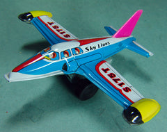 1960's Japan Tin Friction Sky Lines Airplane