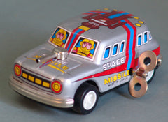 Tin Windup Grey Missile Car