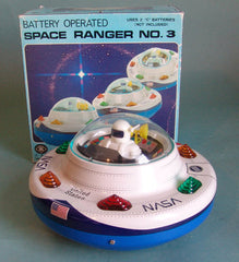 Vintage Modern Toys Battery Operated Japan Space Ranger No. 3