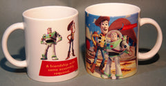 Ceramic Toy Story Buzz And Woody Coffee Mug