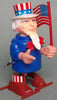 Vintage Durham Japan Wind Up Walking Uncle Sam With Flag