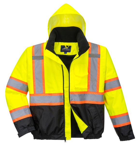 PORTWEST® Hi-Viz Contrast Tape Bomber Jacket US367