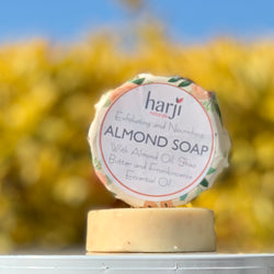 Round Almond Soap for Face & Body