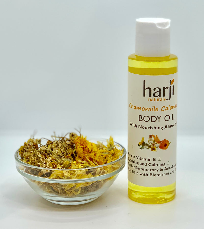 Body Oil with Nourishing Almond Oil - Chamomile Calendula
