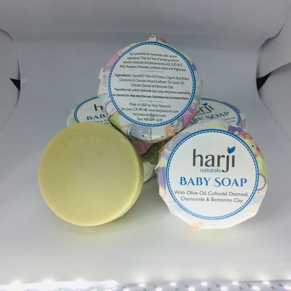 Round Baby Soap (with Olive Oil and Colloidal Oatmeal)
