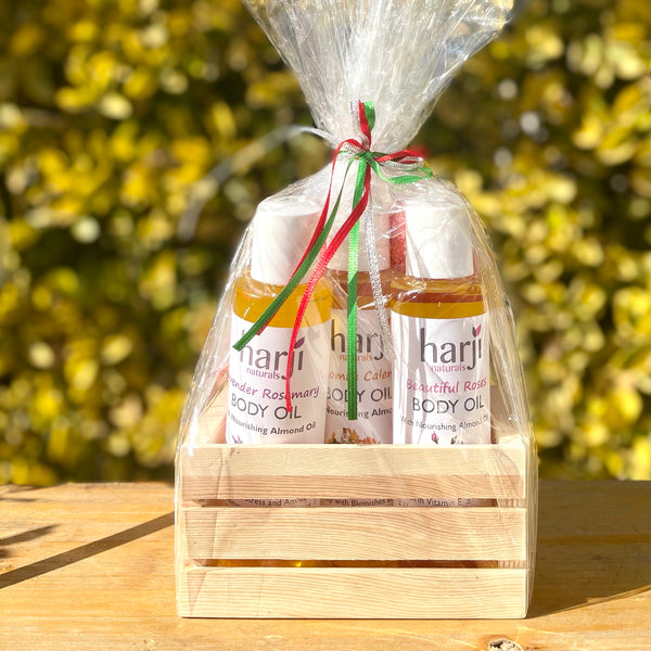 Body Oils Gift Set with Chamomile Calendula Oil