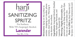 Sanitizing Spritz for Surfaces (Lavender)