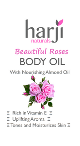 Beautiful Roses Body Oil (With Nourishing Almond Oil)
