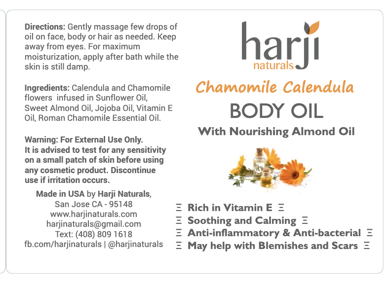 Chamomile Calendula Body Oil (With Nourishing Almond Oil)