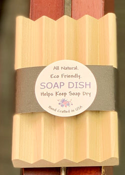 Soap Dish - Natural Wood