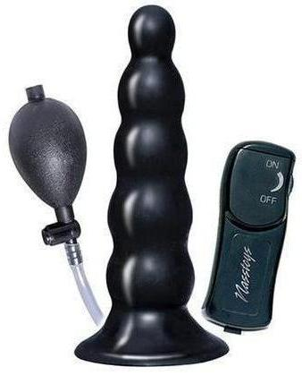 Ram Inflatable Vibrating Anal Expander - Black