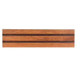 Cherry with Walnut Accent Baguette Cutting Board