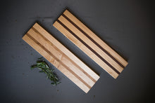 Maple with Walnut Accent Baguette Cutting Board