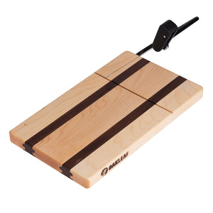 Maple with Walnut Accent Cheese Slicer Cutting Board