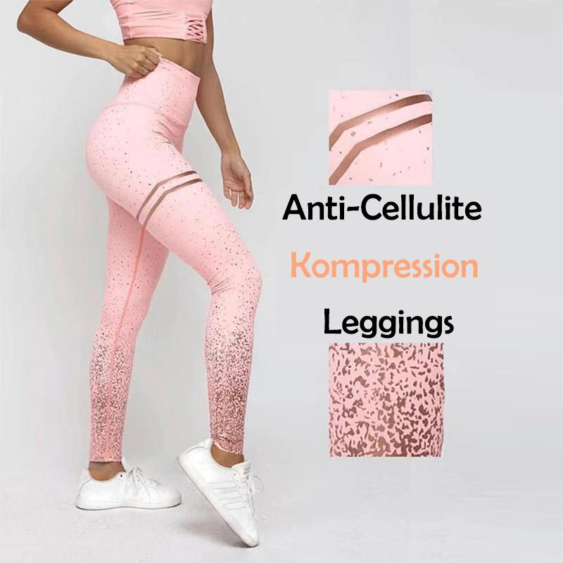 Nahtlose Anti-Cellulite Kompressions-Leggings - hallohaus
