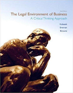 The Legal Environment of Business 6th Edition - PDF Version