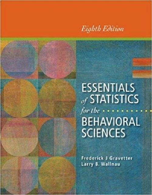 Essentials of Statistics for the Behavioral Sciences 8th Edition - PDF Version