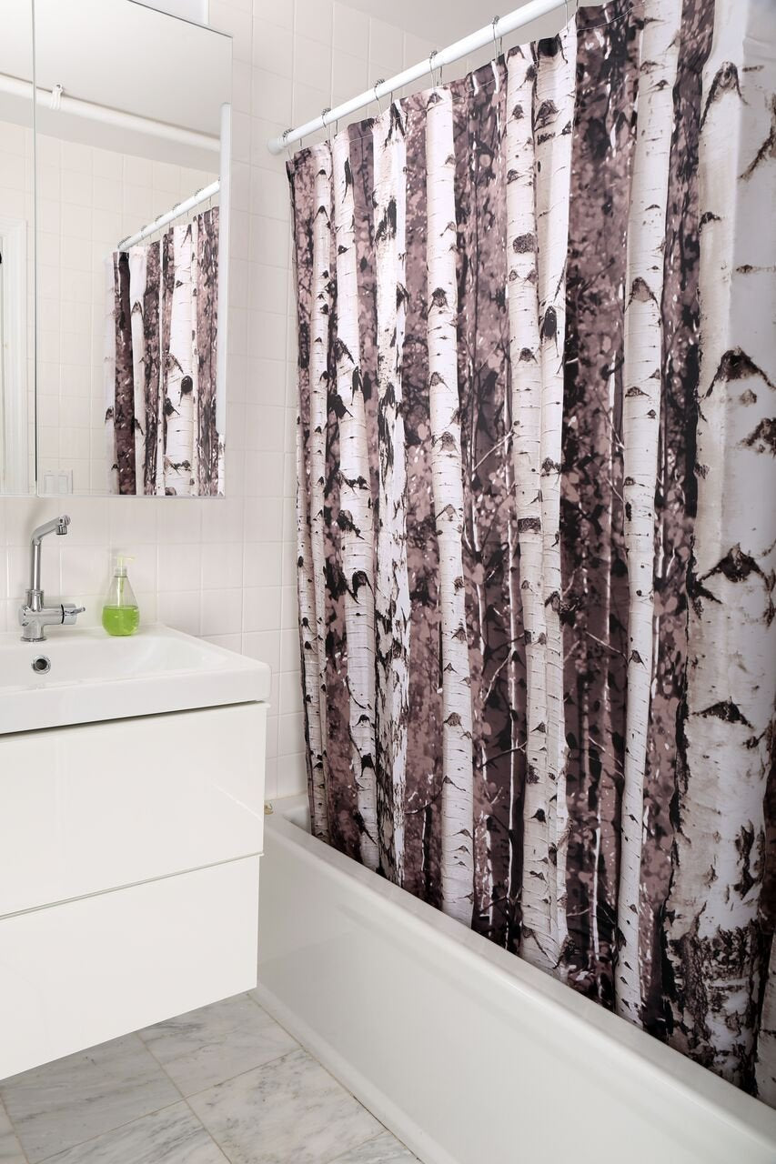 Birch Shower Curtain Rocky Alpine Trading Company