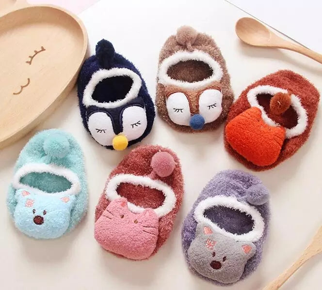 Fluffy Animal Slipper Socks