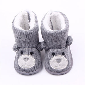 Baby Bear Knitted Booties